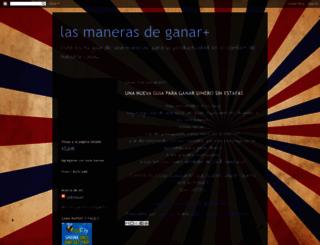 lasmanerasdeganarmas.blogspot.com screenshot