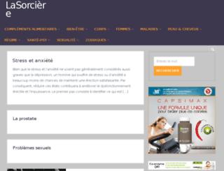 lasorciere.sylickon.com screenshot