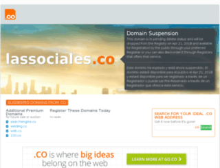 lassociales.co screenshot