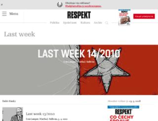 last-week.respekt.cz screenshot