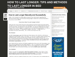 lastlongerguide.com screenshot