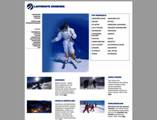 lastminute-skireisen.de screenshot