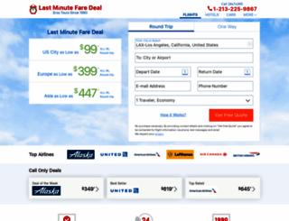 lastminutefaredeal.com screenshot