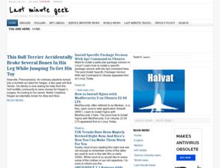 lastminutegeek.com screenshot