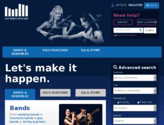 lastminutemusicians.com screenshot
