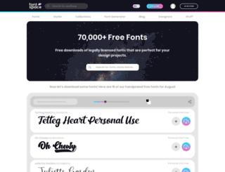 lastsoundtrack.fontspace.com screenshot