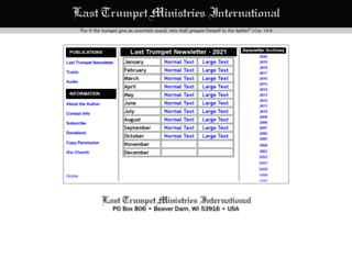 lasttrumpetnewsletter.org screenshot