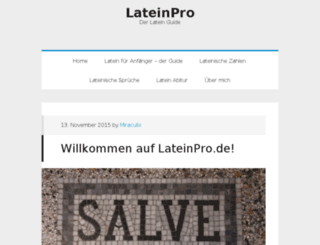 lateinpro.de screenshot