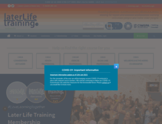 laterlifetraining.co.uk screenshot