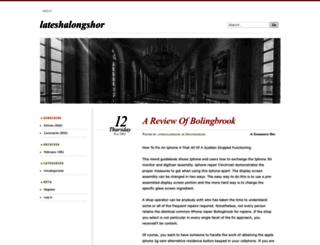 lateshalongshor.wordpress.com screenshot