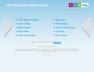 latestbingobonuses.co.uk screenshot