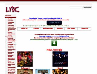 latestbollywoodkaraoke.com screenshot