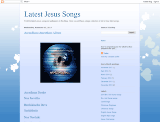 latestjesussongs.blogspot.in screenshot