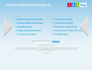 latestmobilephonesdeals.uk screenshot