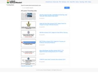 latestsarkarinaukri.com screenshot