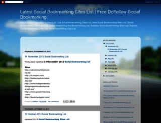 latestsocialbookmarkingsitelist.blogspot.com screenshot