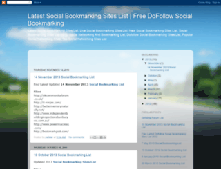 latestsocialbookmarkingsitelist.blogspot.in screenshot