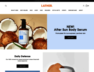 lather.com screenshot