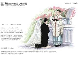 latin-mass-dating.com screenshot