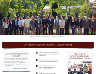 latinamerika.ankara.edu.tr screenshot