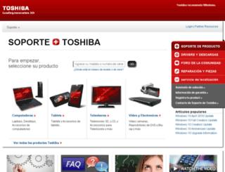 latino.toshiba.com screenshot