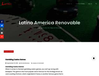 latinoamericarenovable.com screenshot