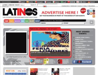 latinosinlondon.com screenshot