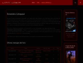 latinquasar.org screenshot
