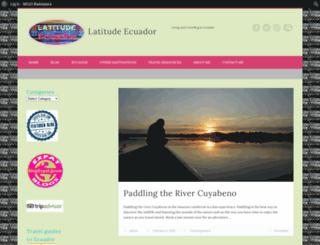 latitudecuador.com screenshot