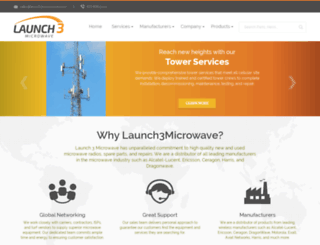 launch3microwave.com screenshot
