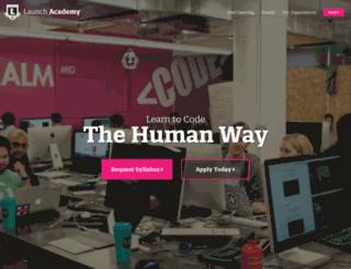 launchacademy.com screenshot