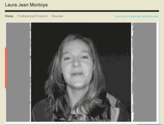 laurajeanmontoya.com screenshot