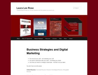 lauraleerose.com screenshot