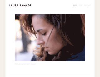 lauraramadei.com screenshot
