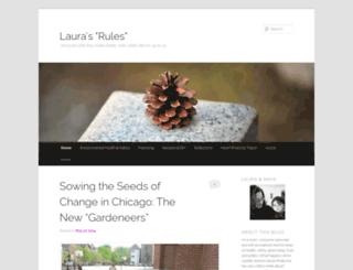 laurasrules.org screenshot