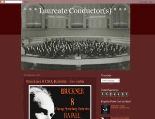 laureateconductor.blogspot.com screenshot
