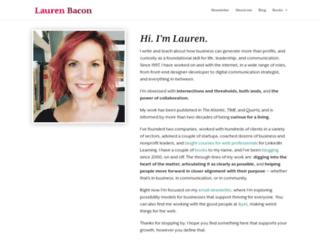 laurenbacon.com screenshot