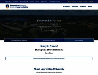 laurentian.ca screenshot