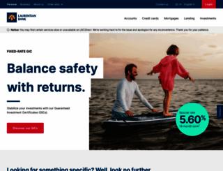 laurentianbank.ca screenshot