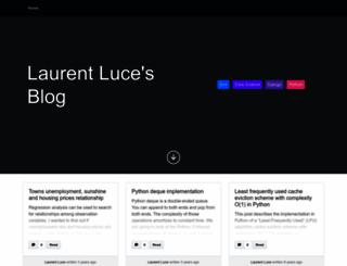 laurentluce.com screenshot