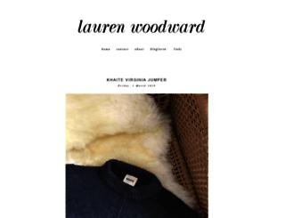 laurenwoodward.blogspot.com screenshot
