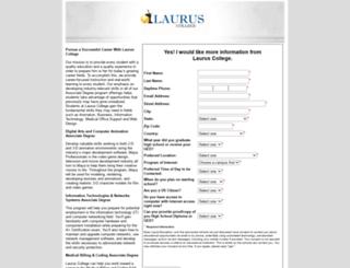 laurus-college.search4careercolleges.com screenshot