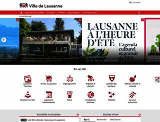 lausanne.ch screenshot