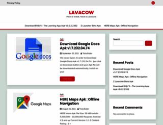 lavacow.com screenshot