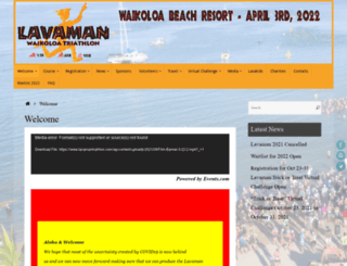 lavamantriathlon.com screenshot