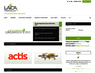 lavca.org screenshot