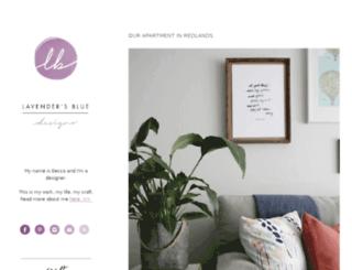 lavendersbluedesigns.com screenshot