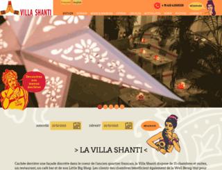 lavillashanti.com screenshot