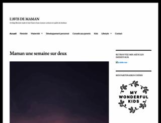 lavisdemaman.wordpress.com screenshot