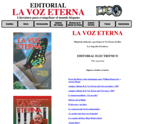 lavozeterna.org screenshot